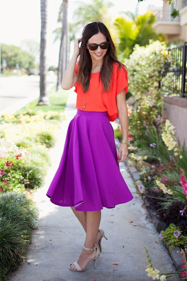 violet skirt Gorgeous Colors You Need to Add to Your Closet Right Now