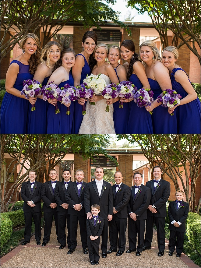Classic White, Purple & Green Wedding at The Omni Houston Hotel