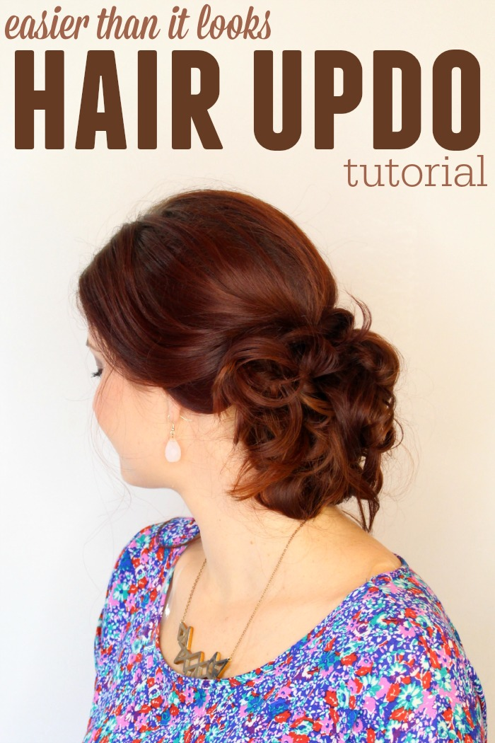 easier than it looks messy updo tutorial