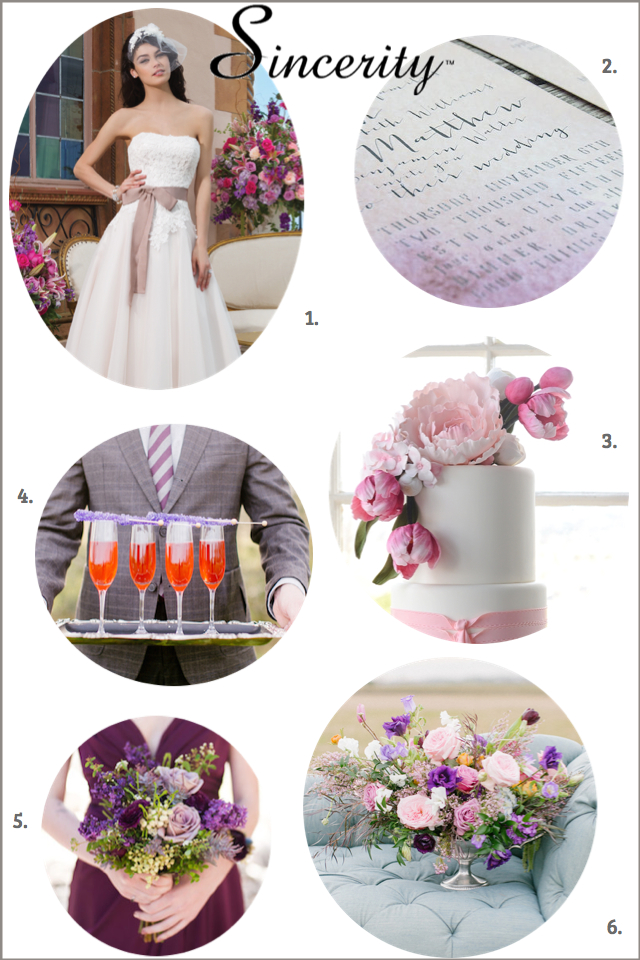 Pink and purple wedding design