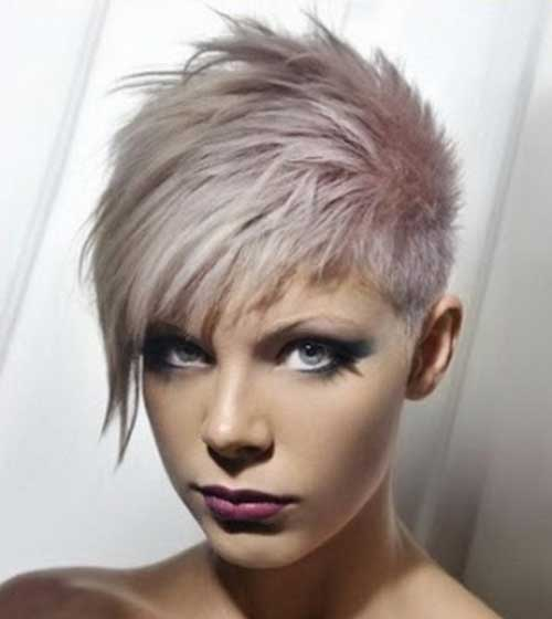 Pastel Grey Hair with Spikes