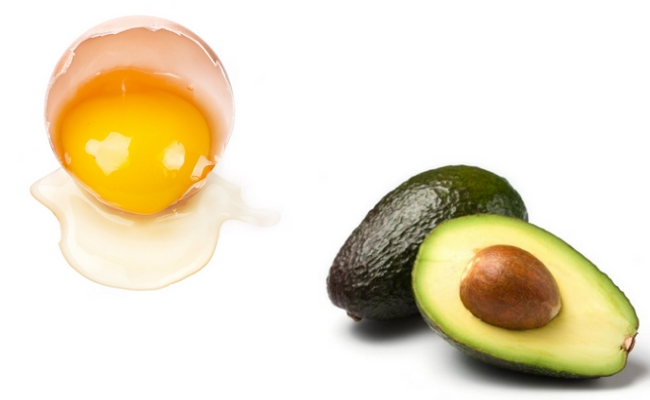 Egg yolk and Avocado Mask