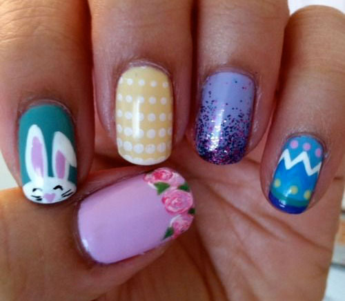 20 Simple Easy Cool Easter Nail Art Designs Ideas Trends Stickers 2015 15 20 Simple, Easy & Cool Easter Nail Art Designs, Ideas, Trends & Stickers 2015