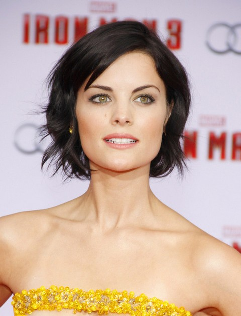 Jaimie Alexander Short Hair Style for 2014 - Short Black Hairstyle with Waves