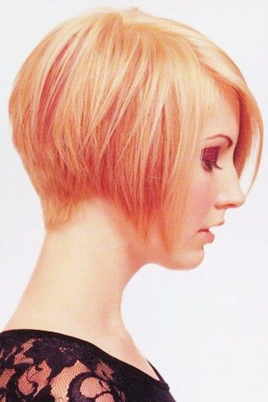 Colored Short Haircut for Women