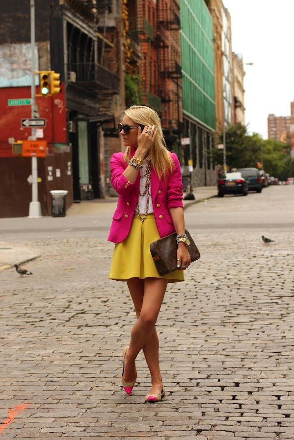 light yellow skirt Gorgeous Colors You Need to Add to Your Closet Right Now