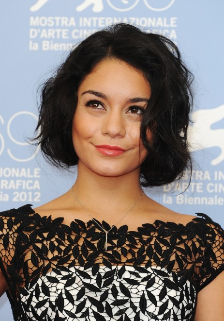 Vanessa Hudgens Short Waved Bob Hairstyle for 2014 - Cute Chin Length Bob Cut