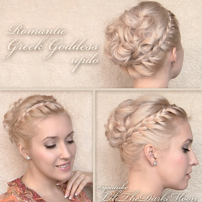 Romantic Braided Updo for Wedding Hairstyles
