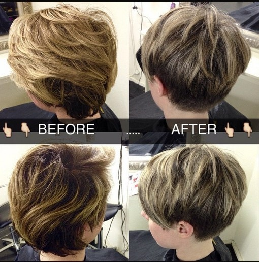 Easy Layered Pixie Haircut for Women