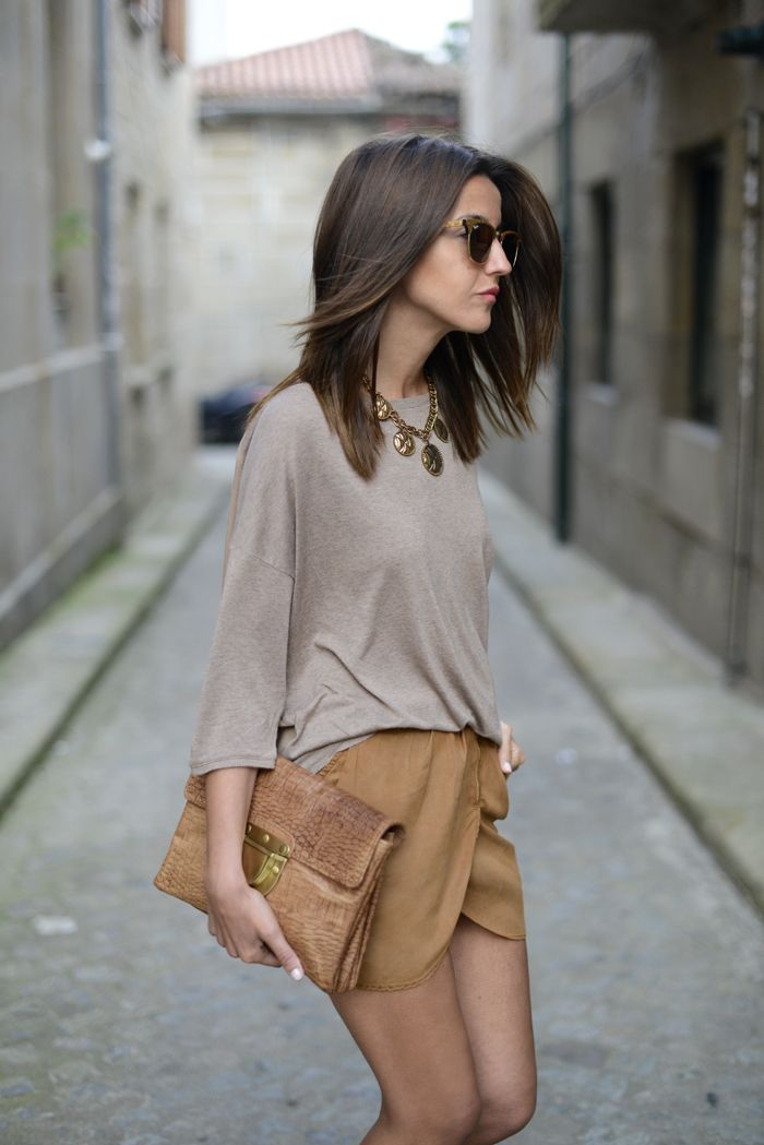 camel colored shorts Gorgeous Colors You Need to Add to Your Closet Right Now