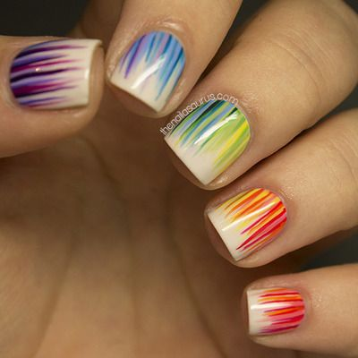 Cool Rainbow Nail Art Design
