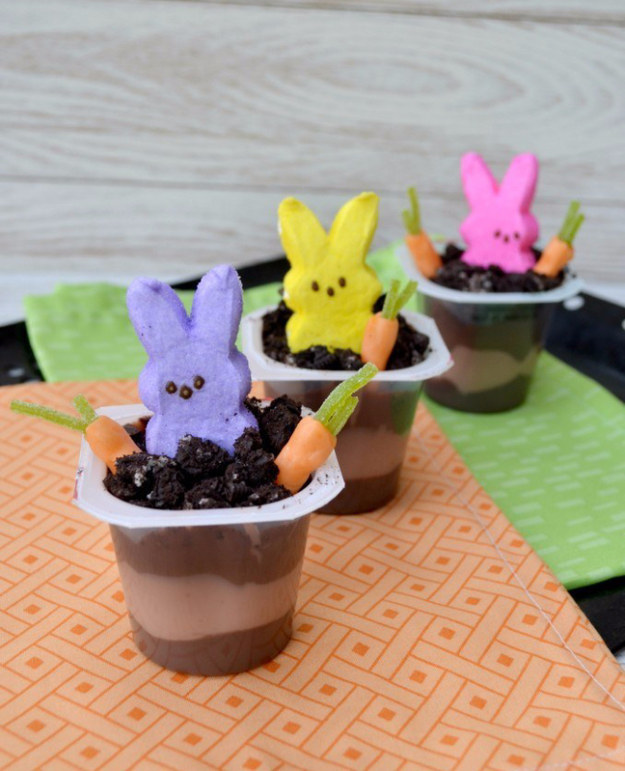 Peeps in Pudding Cups