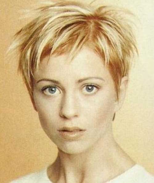 Best Cute Blonde Spiky Pixie Cut