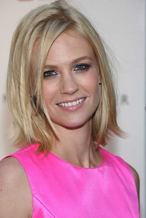 January Jones Choppy Hairstyle