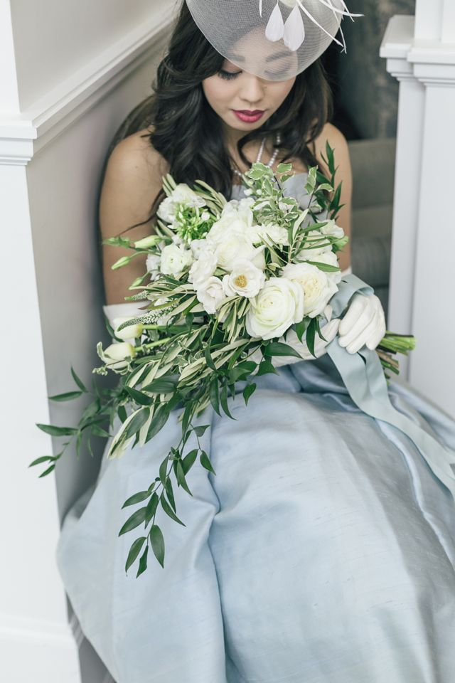 Powder blue French wedding inspiration | The Love Studio | see more on: http://burnettsboards.com/2015/03/vintage-dior-wedding-editorial/