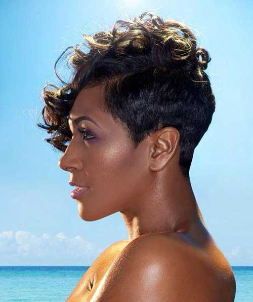 Foxy Short Pixie Hair Style for Black