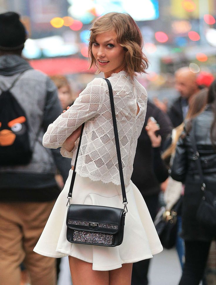 sweet and sexy outfit The Best Street Style Outfits from Karlie Kloss