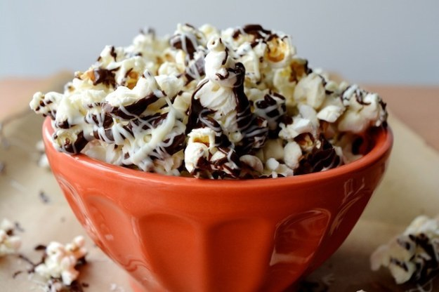 Popcorn with Chocolate, Peanut Butter