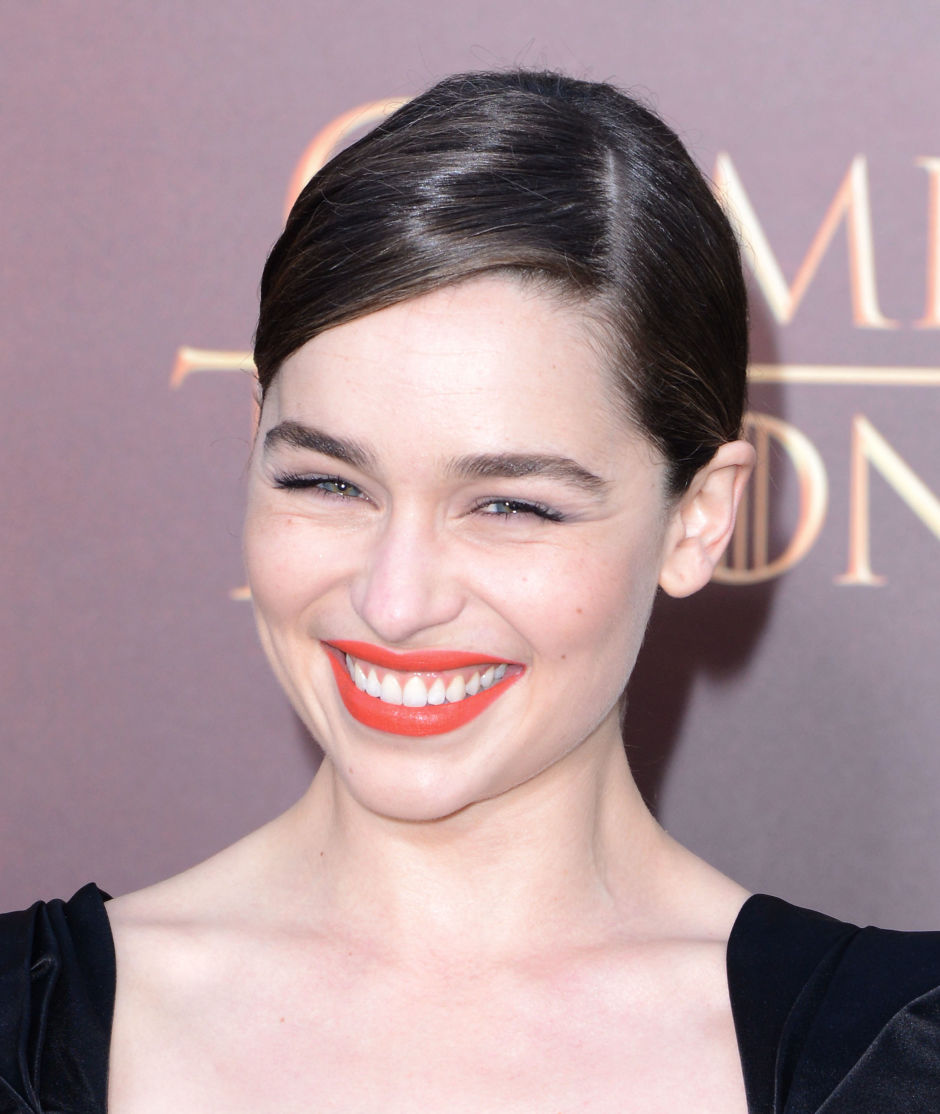 Emilia Clarke at the 2015 season 5 premiere of 'Game of Thrones'.
