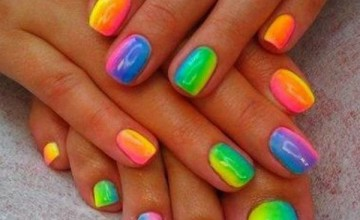 bb060  Blocked Rainbow Nail Art Design.jpg