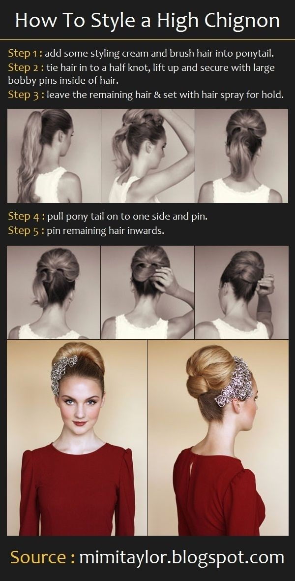 High Chignon for Wedding Hairstyles
