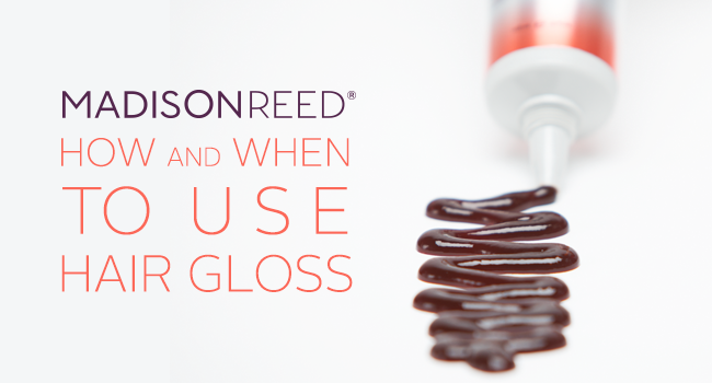 hair gloss for healthier hair
