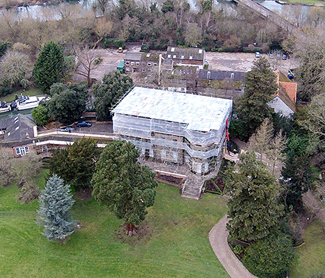 George Clooney and Amal Alamuddin are keeping steading with renovations of their huge mansion in England.