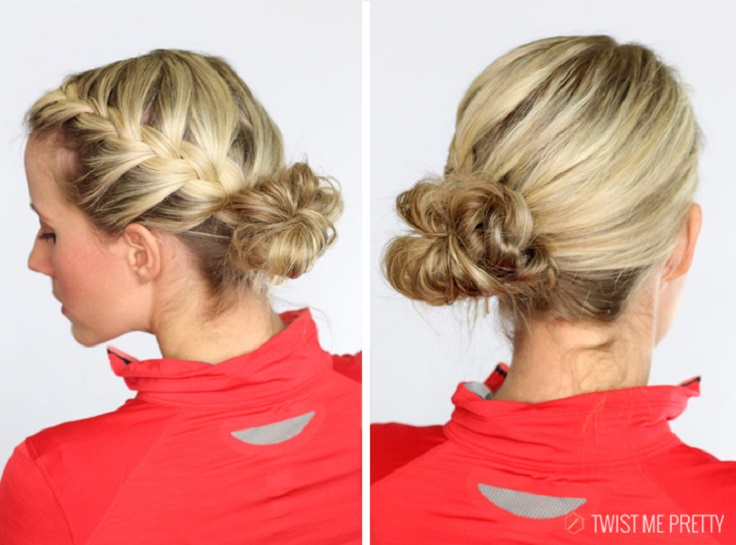 french-braided-messy-bun