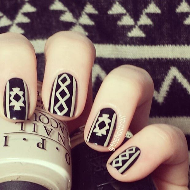 Sweater Inspiration Nail Design