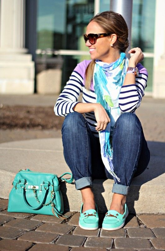 matching shoes bag and scarf How to Style a Scarf for Spring