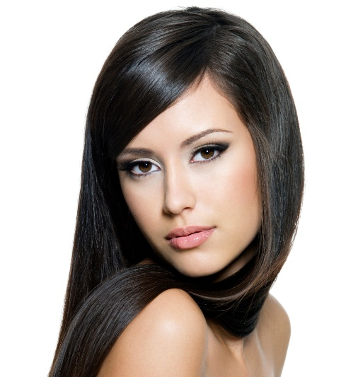 Sleek Blowout Hairstyles For Girl 2015 with Bang