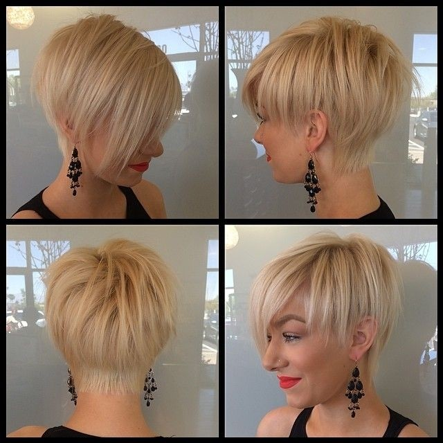 Short Straight Haircut with Side Bangs