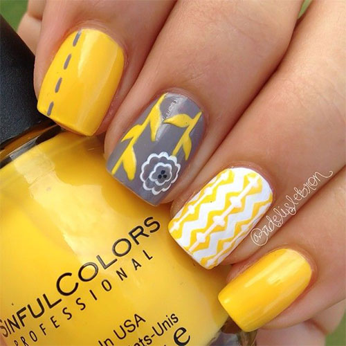 15+ Spring Flower Nail Artwork Designs, Ideas, Trends & Stickers ...