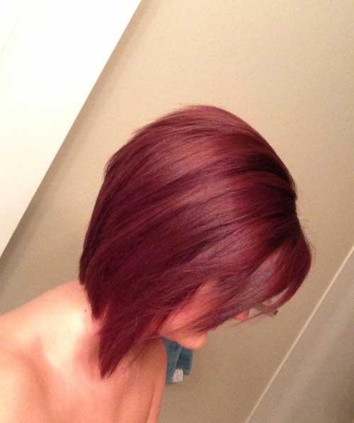 Red Inverted Bob Hair
