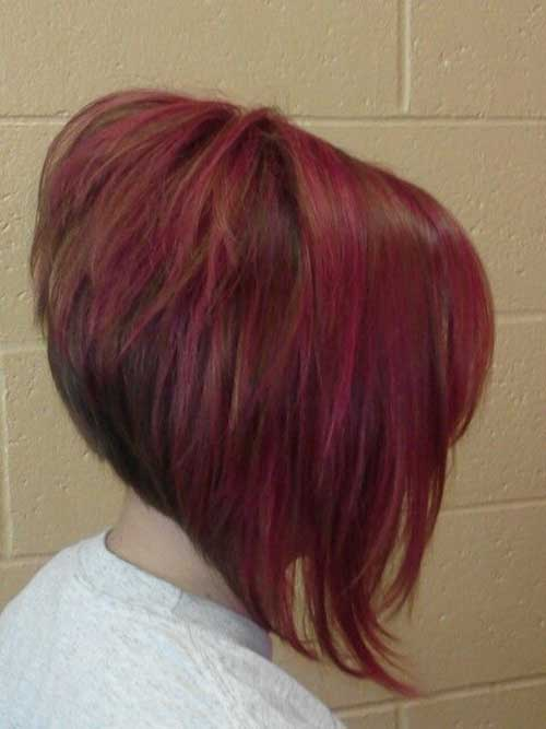 Stacked Inverted Red Bob Hairstyles 2015