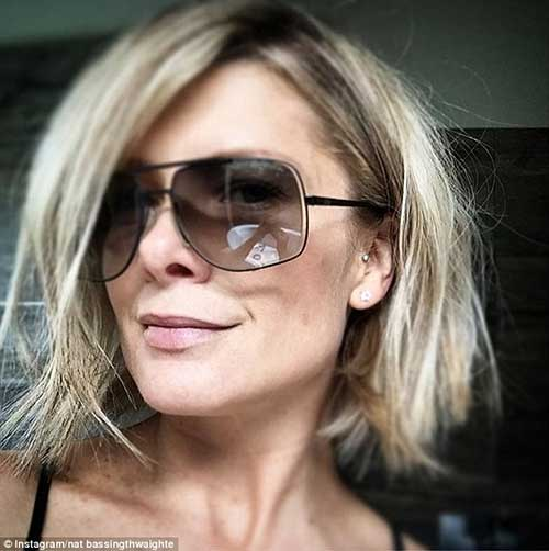 Natalie Bassingthwaighte Messy Hairstyles