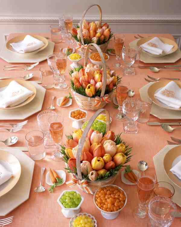 Orange Table Decoration