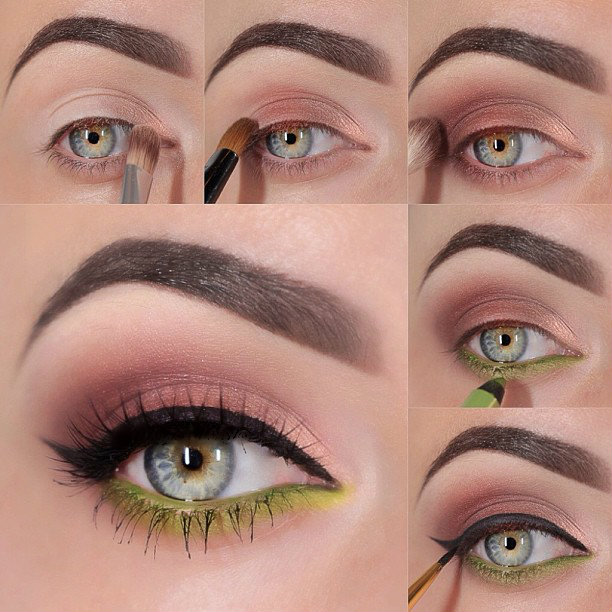 Brown And Green Eyeshadow Tutorial