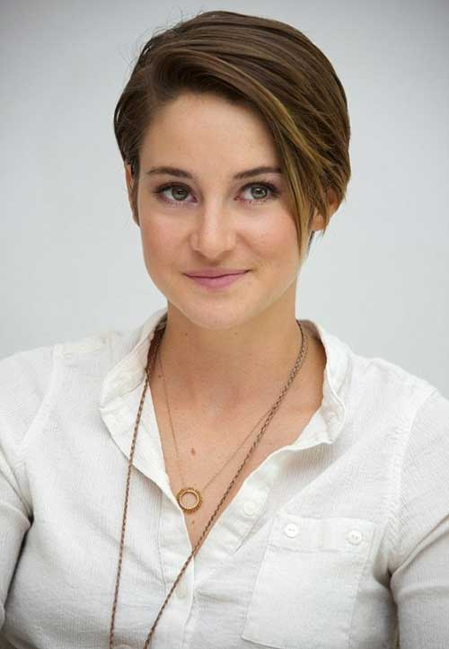 Shailene Woodley Growing Long Pixie Hair