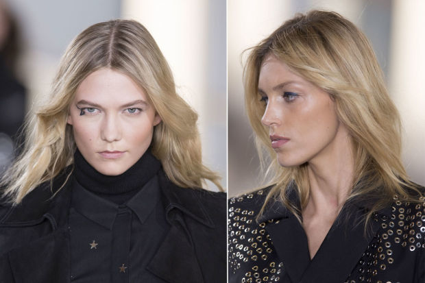 The beauty look at Anthony Vaccarello fall 2015.