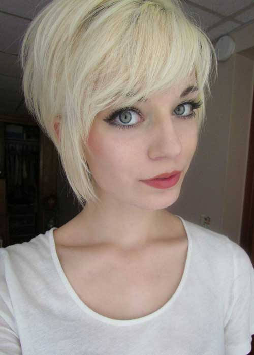 Blonde Pixie Long Side Bangs