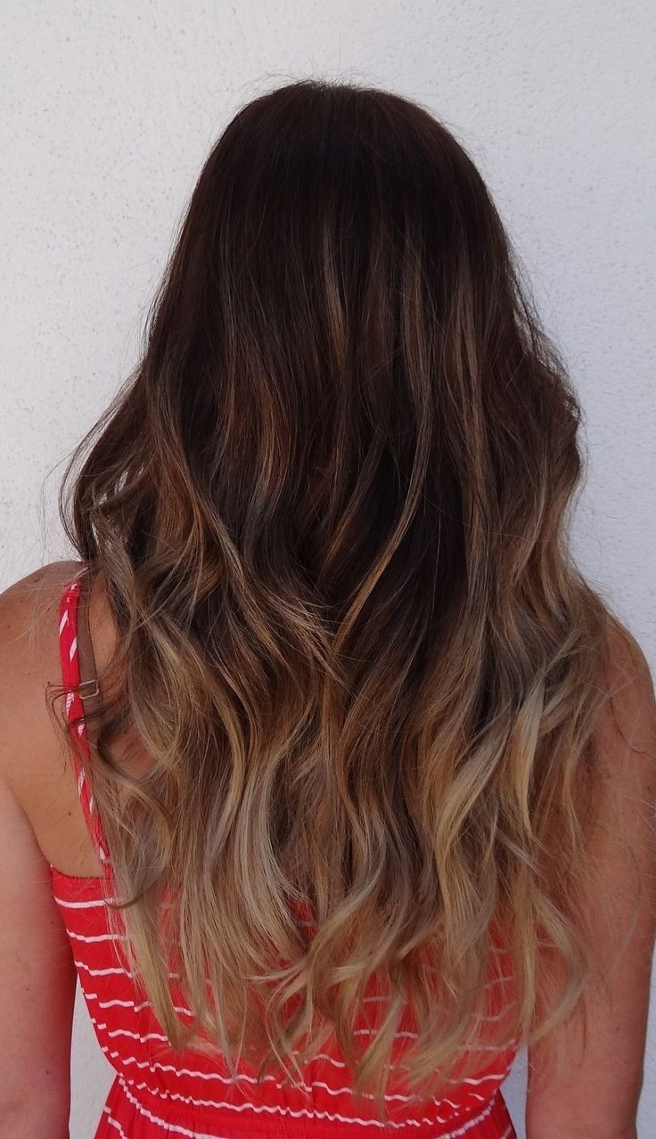 Long Wavy Hairstyle for Ombre Hair