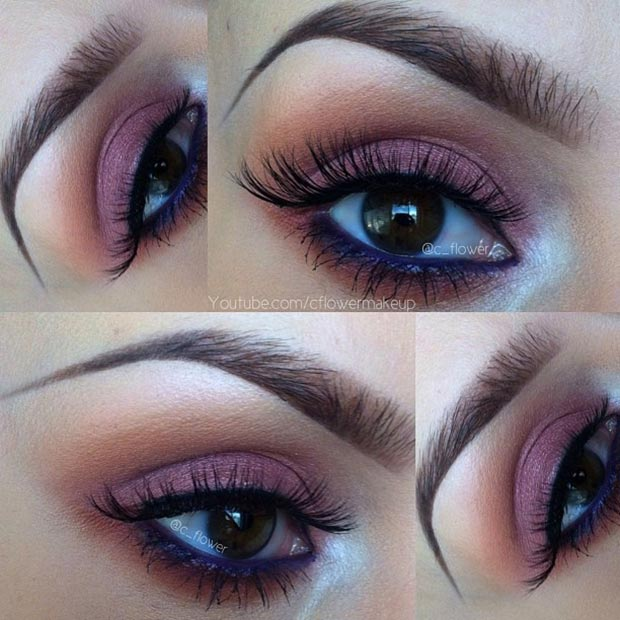 Cranberry Eye Makeup Look