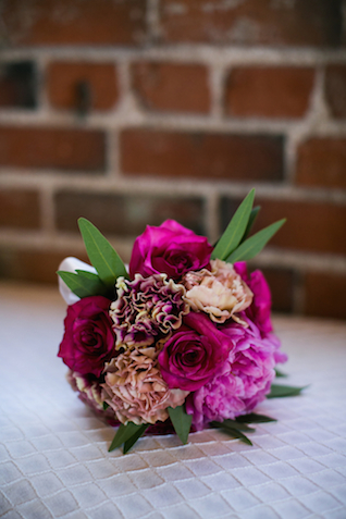 Pink bridal bouquet | Amy Caroline Photography | see more on: http://burnettsboards.com/2015/03/coutrney-real-bride-custom-wedding-dress/