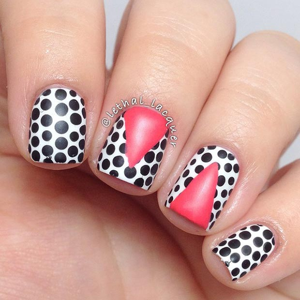 Cool Polka Dot Nail Design