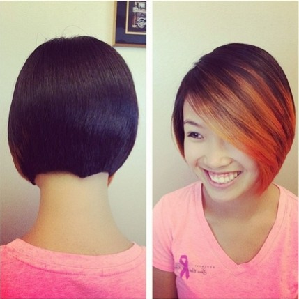 Ombre Bob Haircuts for Straight Hair: Easy Short Hairstyles with Bangs
