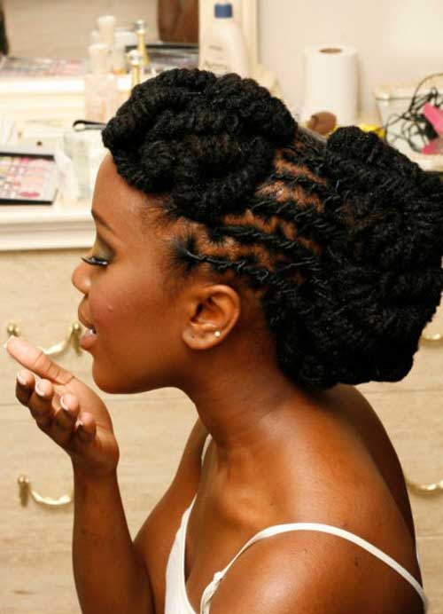 short natural black hairstyles tutorials