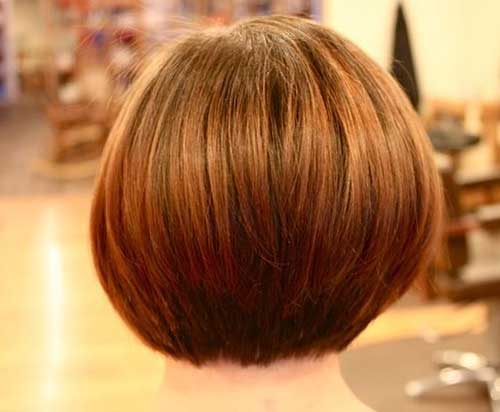 Lovely A-Line Bob Back View