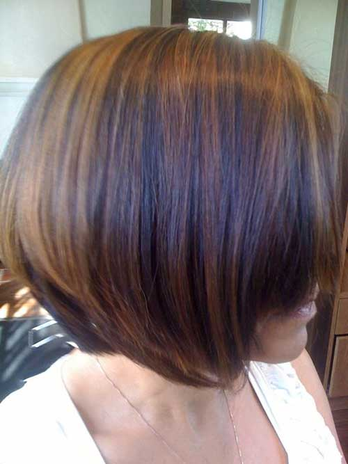 Brown with Caramel Highlighted Bob for Black Women