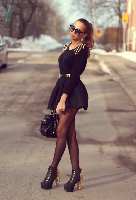 cute outfits to wear with platform boots (14)